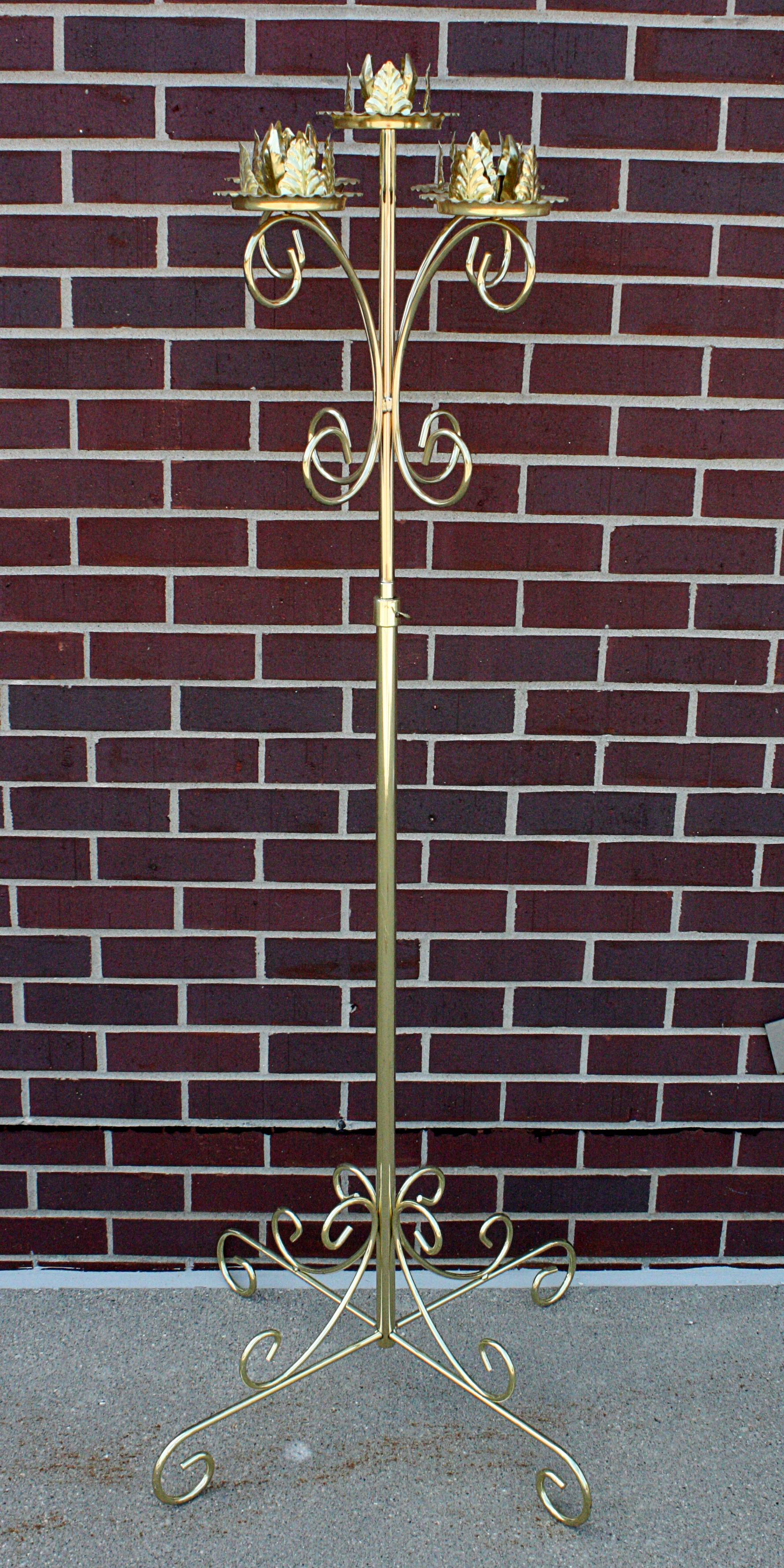 5 branch brass