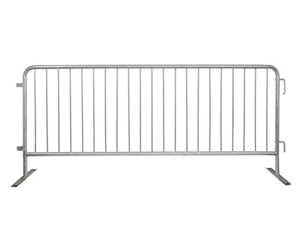 8 ft wide metal barricades