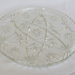 clear glass tray