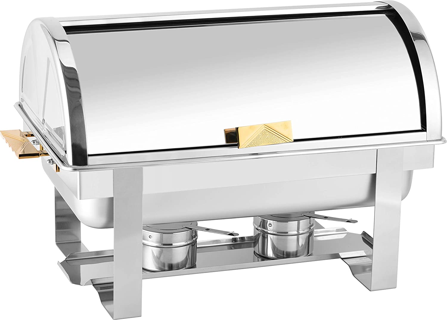 Chafing dish-silver rolltop