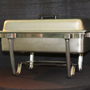 Stainless steel 8 qt chafer w/sternos