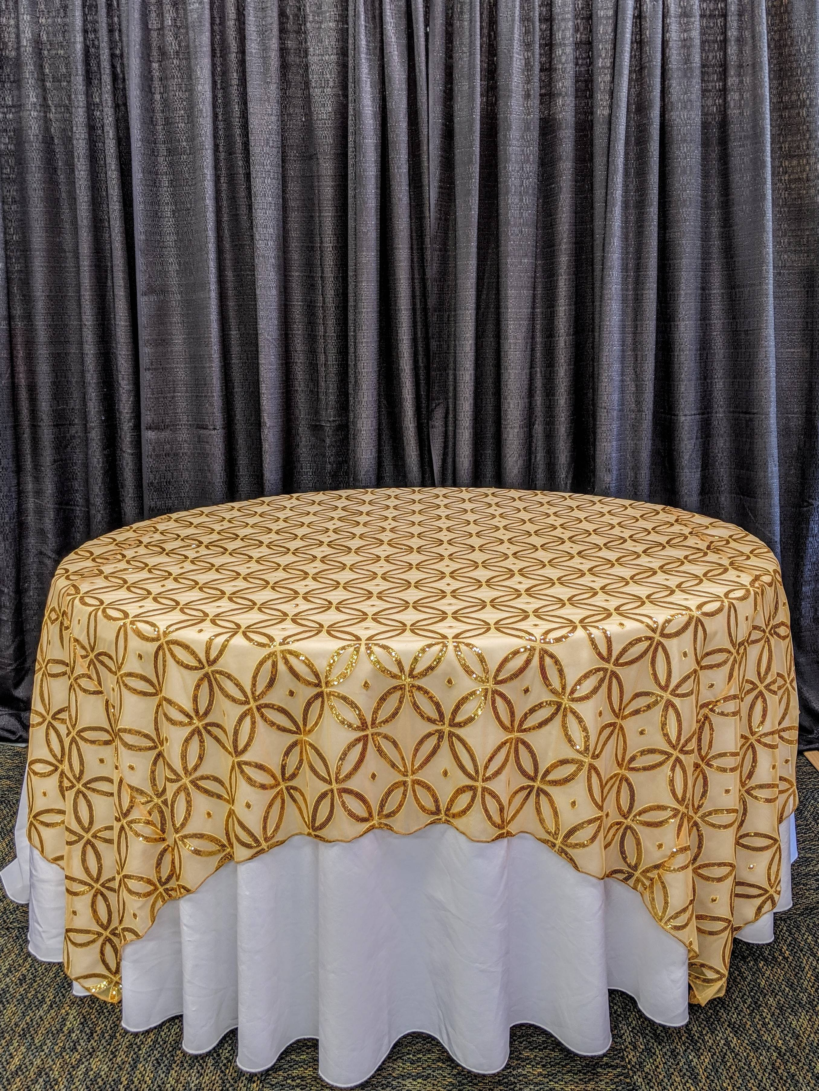 "85"" x 85"" square tablecover"