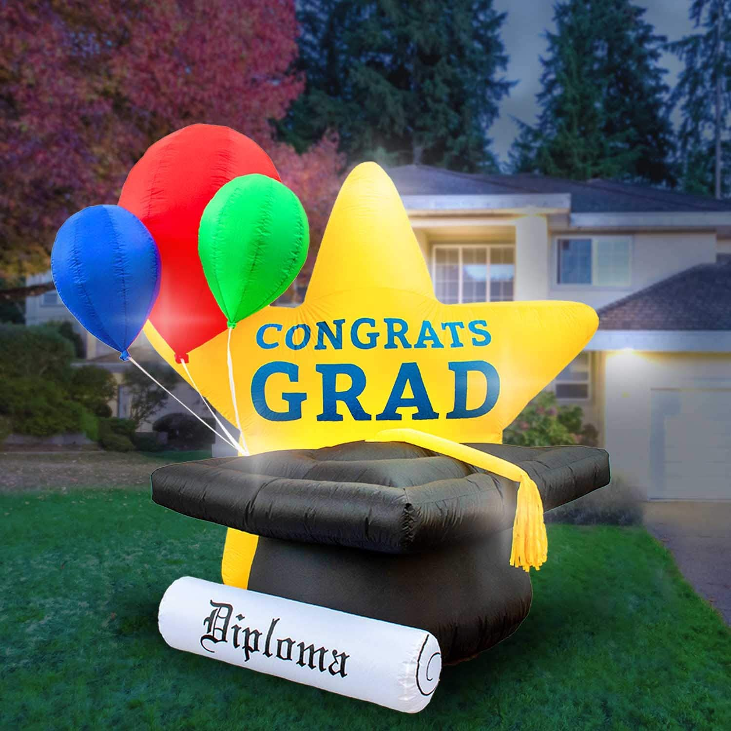 Graduation inflatable for yard