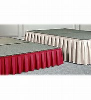 Stage skirting 14 ft wide sections