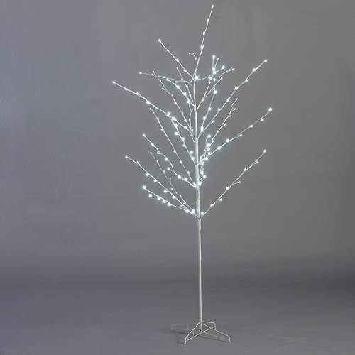 Tree 7 ft tall lighted white